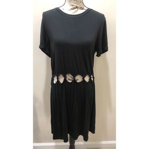 American Eagle Outfitters Knotted Cutout Dress